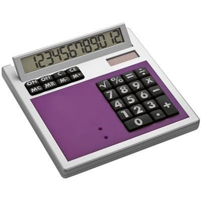 Picture of CRISMA OWN DESIGN CALCULATOR with Insert in Violet