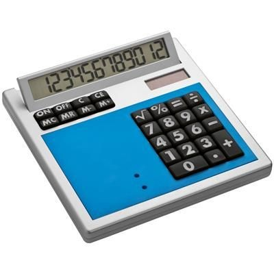 Picture of CRISMA OWN DESIGN CALCULATOR with Insert in Light Blue