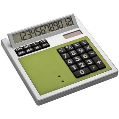 Picture of CRISMA OWN DESIGN CALCULATOR with Insert in Apple Green