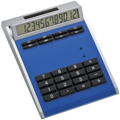 Picture of CRISMA SMALL OWN DESIGN CALCULATOR with Insert in Blue