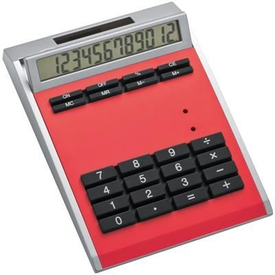 Picture of CRISMA SMALL OWN DESIGN CALCULATOR with Insert in Red