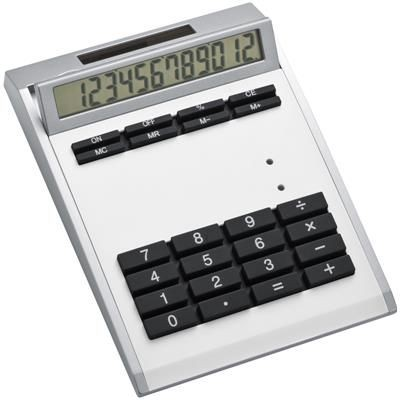 Picture of CRISMA SMALL OWN DESIGN CALCULATOR with Insert in White