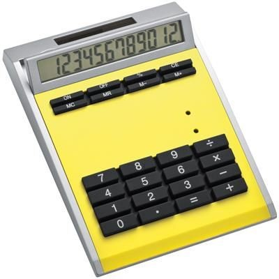 Picture of CRISMA SMALL OWN DESIGN CALCULATOR with Insert in Yellow