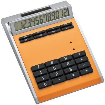 Picture of CRISMA SMALL OWN DESIGN CALCULATOR with Insert in Orange
