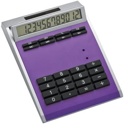 Picture of CRISMA SMALL OWN DESIGN CALCULATOR with Insert in Violet