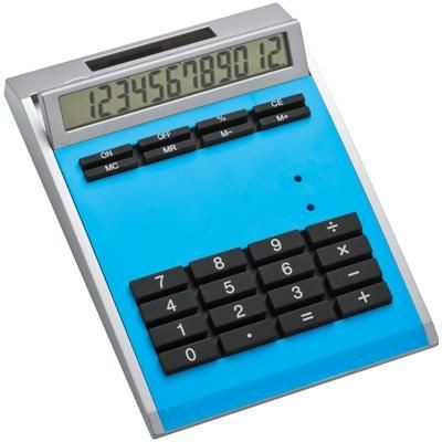 Picture of CRISMA SMALL OWN DESIGN CALCULATOR with Insert in Light Blue