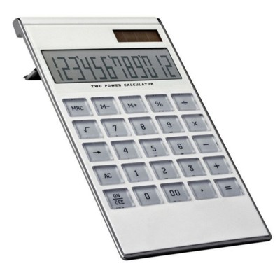 Picture of 12 DIGIT DUAL POWER CALCULATOR in White