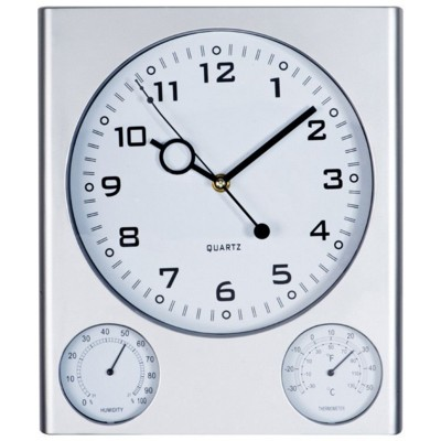 Picture of TRIO PLASTIC WALL CLOCK in Grey