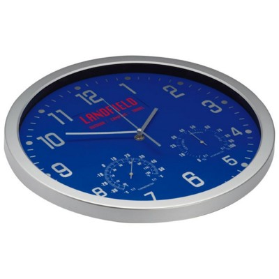 Picture of CRISMA STYLISH WALL CLOCK in Blue & Silver