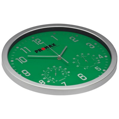 Picture of CRISMA STYLISH WALL CLOCK in Green & Silver