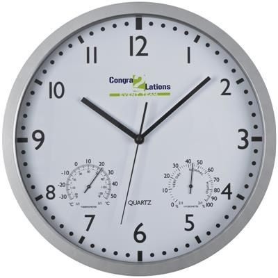 Picture of WALL CLOCK with Display in White
