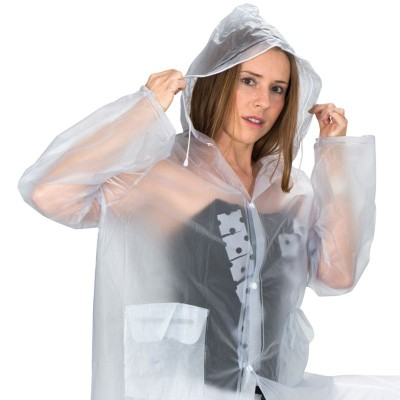 Picture of XL PVC RAIN COAT in Clear Transparent