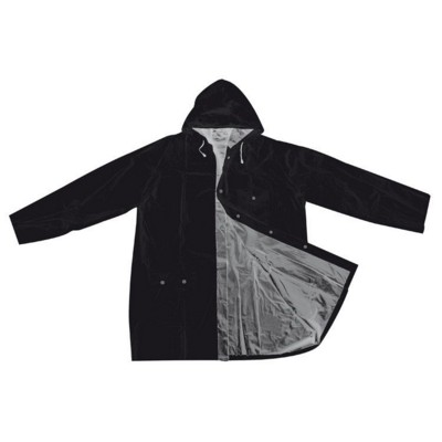 Picture of BICOLOUR XL PVC REVERSIBLE RAIN COAT in Black & Silver