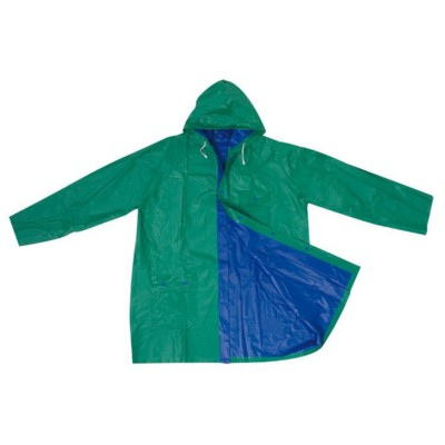 Picture of BICOLOUR XL PVC REVERSIBLE RAIN COAT in Blue & Green