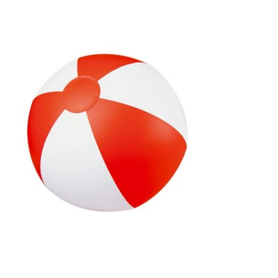 Picture of CLASSIC INFLATABLE BEACH BALL with White & Red Panels
