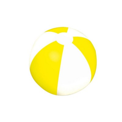 Picture of CLASSIC INFLATABLE BEACH BALL with White & Yellow Panels