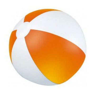 Picture of CLASSIC INFLATABLE BEACH BALL with White & Orange Panels