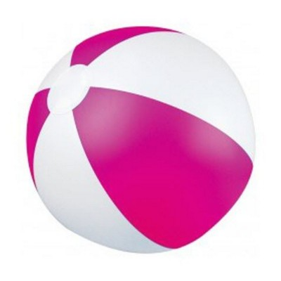 Picture of CLASSIC INFLATABLE BEACH BALL with White & Pink Panels