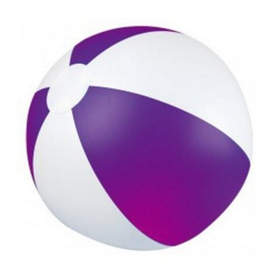 Picture of CLASSIC INFLATABLE BEACH BALL with White & Violet Panels