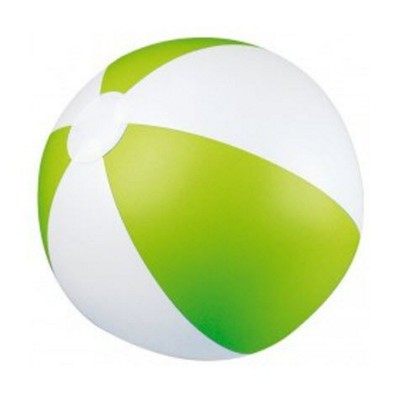 Picture of CLASSIC INFLATABLE BEACH BALL with White & Apple Green Panels