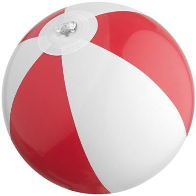 Picture of MINI BEACH BALL in White & Red