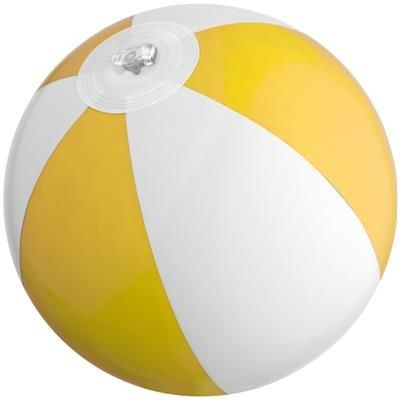 Picture of MINI BEACH BALL in White & Yellow