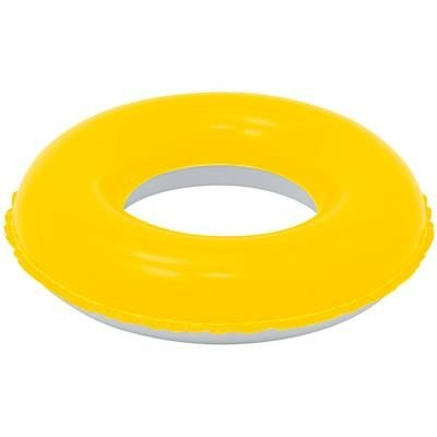 Picture of CHILDRENS INFLATABLE PVC SWIMMING RING in Yellow & White
