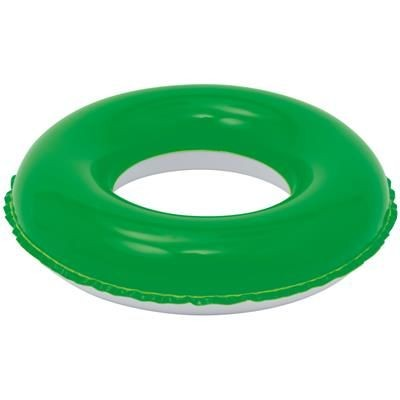 Picture of CHILDRENS INFLATABLE PVC SWIMMING RING in Green & White