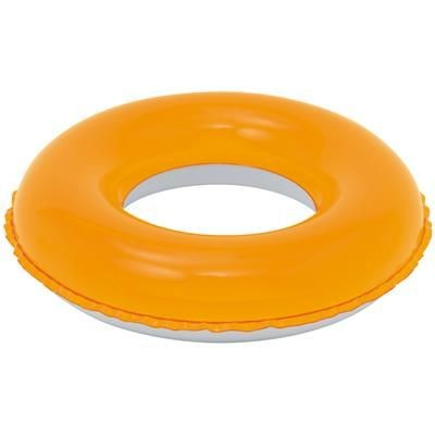 Picture of CHILDRENS INFLATABLE PVC SWIMMING RING in Orange & White