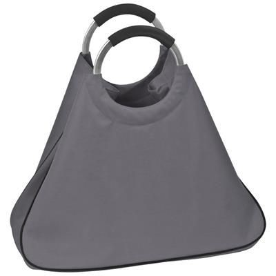 Picture of BIG POLYESTER SHOPPER TOTE BAG with Aluminium Metal Handles