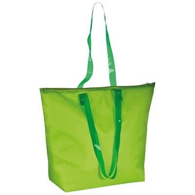 Picture of BEACH BAG with Clear Transparent Handles in Apple Green