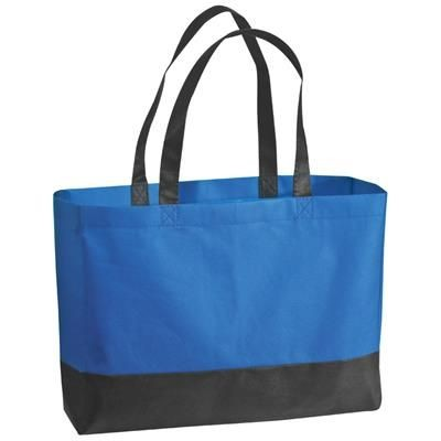 FOLDING NON WOVEN SHOPPER TOTE BAG in Blue