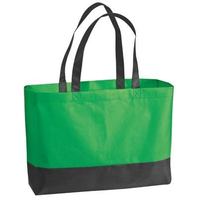 Picture of FOLDING NON WOVEN SHOPPER TOTE BAG in Green