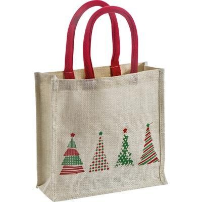 Picture of JUTE CHRISTMAS BAG with Robust Cord Handles