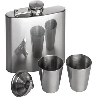 Picture of STAINLESS STELL HIP FLASK SET with 2 Liquor Cup
