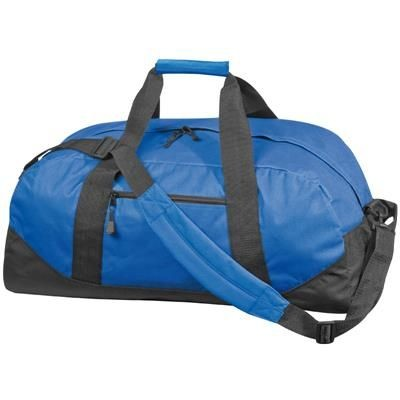Picture of POLYESTER SPORTS TRAVEL BAG in Blue