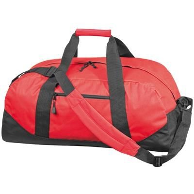 Picture of POLYESTER SPORTS TRAVEL BAG in Red