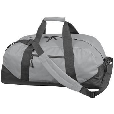 Picture of POLYESTER SPORTS TRAVEL BAG in Grey