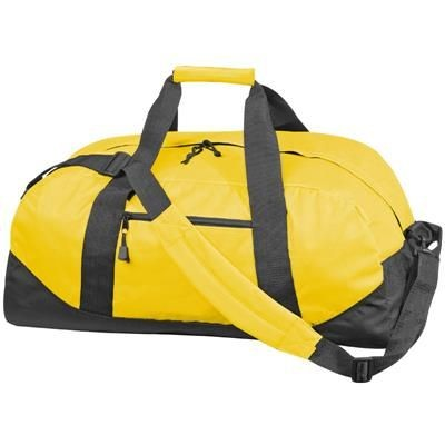 Picture of POLYESTER SPORTS TRAVEL BAG in Yellow