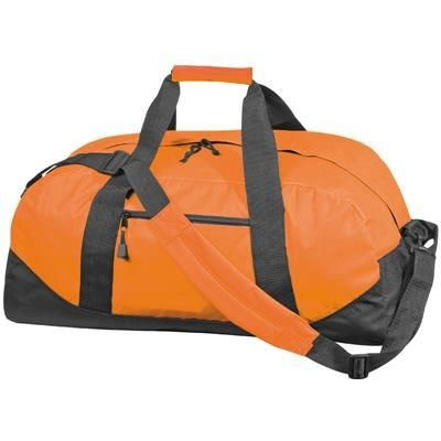 Picture of POLYESTER SPORTS TRAVEL BAG in Orange