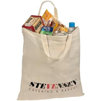 Picture of SHORT HANDLED HANDY SHOPPER TOTE BAG in White