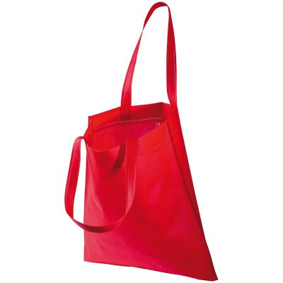 Picture of NON WOVEN SHOPPER TOTE BAG in Red
