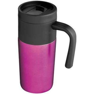 Picture of THERMAL INSULATED TRAVEL MUG in Pink