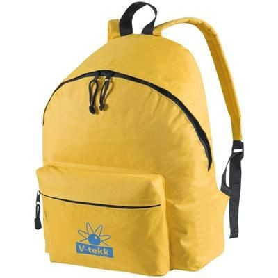 Picture of POLYESTER BACKPACK RUCKSACK in Yellow