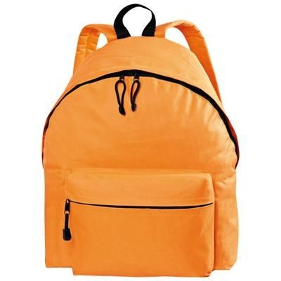 Picture of POLYESTER BACKPACK RUCKSACK in Orange