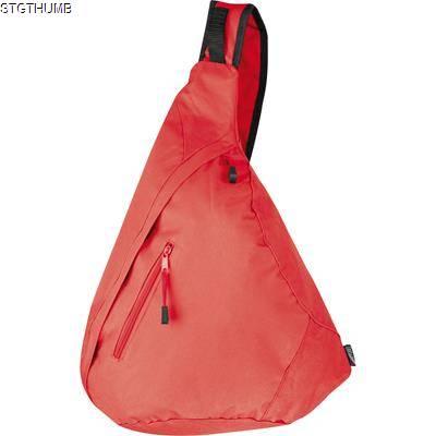 Picture of NYLON SLING SHOULDER BAG in Red