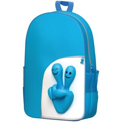 Picture of SMILE HANDS DESIGN BACKPACK RUCKSACK in Turquoise
