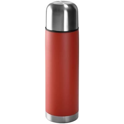 Picture of STAINLESS STEEL METAL THERMAL INSULATED FLASK in Red