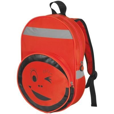 Picture of SMILEY BACKPACK RUCKSACK in Red