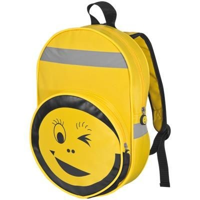 Picture of SMILEY BACKPACK RUCKSACK in Yellow